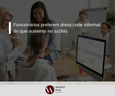 Funcionários preferem dress code informal do que aumento no salário