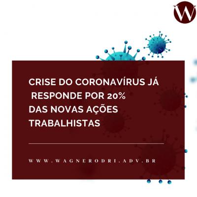 Crise do coronavírus já responde por 20% das novas ações trabalhistas